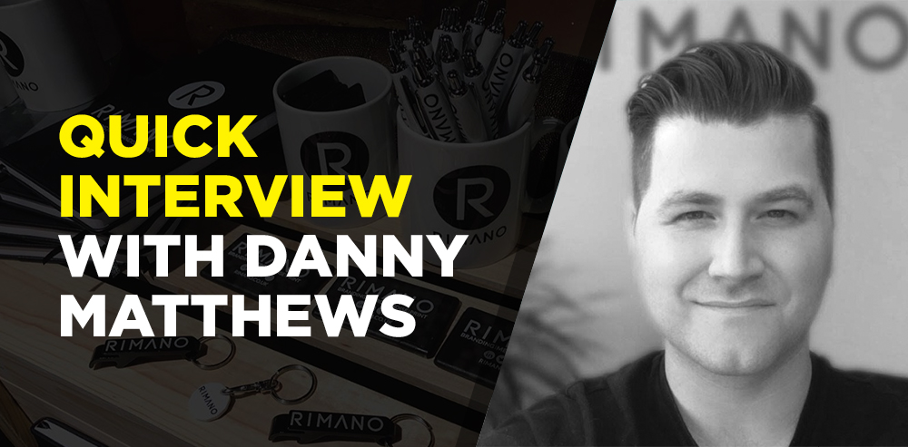 Quick interview with Danny  Matthews